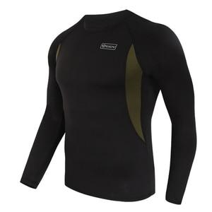Image 5 - ESDY مجموعة ملابس داخلية شتوية حرارية ، بدلة رياضية سريعة الجفاف ، تي شيرت طويل مسامي ، ضيق ، سروال سترة دراجة نارية