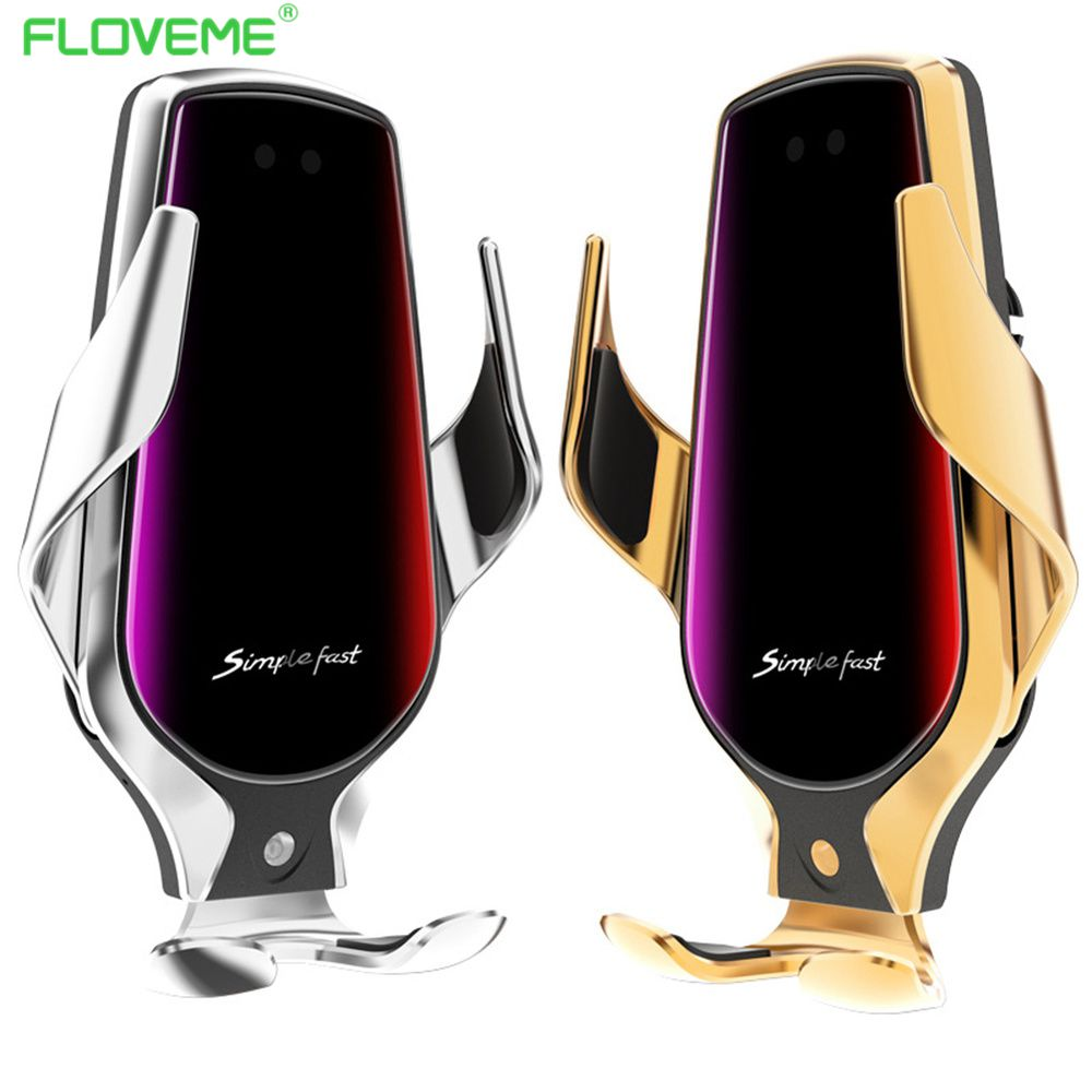 FLOVEME Smart Sensor Car Wireless Charger Car Phone Holder QI 10W Fast Charging For IPhone Samsung Mobile Phone Stand Holders