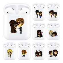 Soft Cute Air Pods Case For Apple airpods Luxury Cartoon The Vampire Diaries Airpods in Bluetooth Earphone Accessories