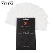 Neitsi 10sheets 120pcs Pre cut Double Sided Tape Tabs Super Tape For Skin Weft Human Remy Tape Hair Extensions Tape No Shine