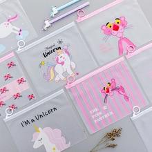Cute cartoon cosmetic file bag storage ladies transparent travel stationery waterproof toiletry