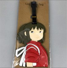 1pcs Japan Anime Spirited Away Cartoon Gedrukt Bagage Tags Koffer Id-kaart Naam Label Collection Cosplay Accessoires(China)