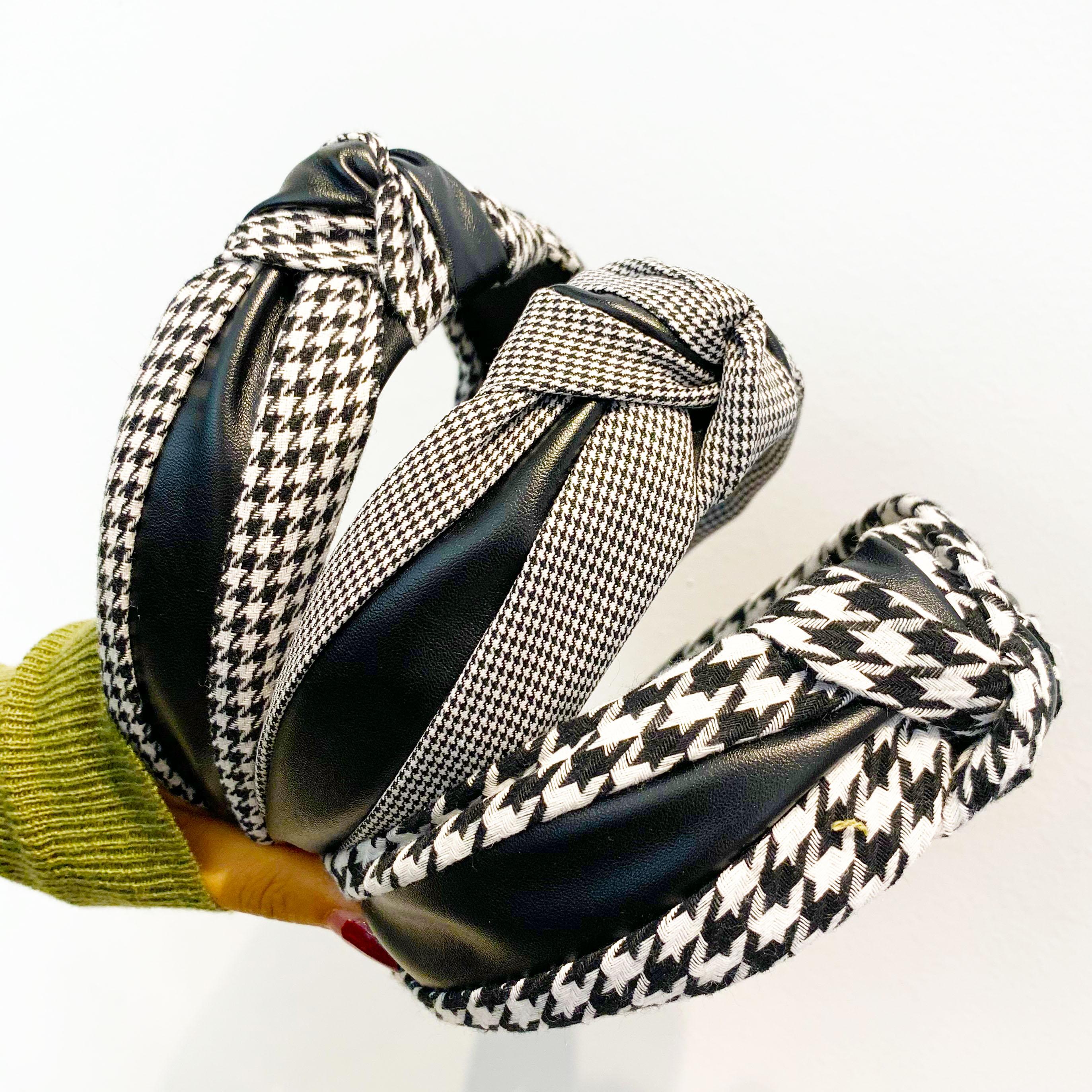 Chen Yan Fashion Knot Headband  Lady Print Headbands  New Plaid Hairband FG1914