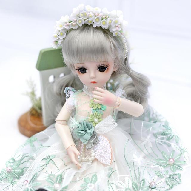 UCanaan BJD Doll 1/6 SD Dolls 30CM Girls Dress UP Toys With Full Outfits Dress Wig Shoes Makeup Best Gifts For Girls 2