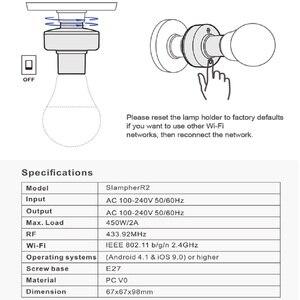 Image 4 - SONOFF Slampher E27 Lamp/Light/Bulb Holder 433MHZ RF/WIFI/APP eWelink Remote Control Smart Support Google Home Automation Alexa