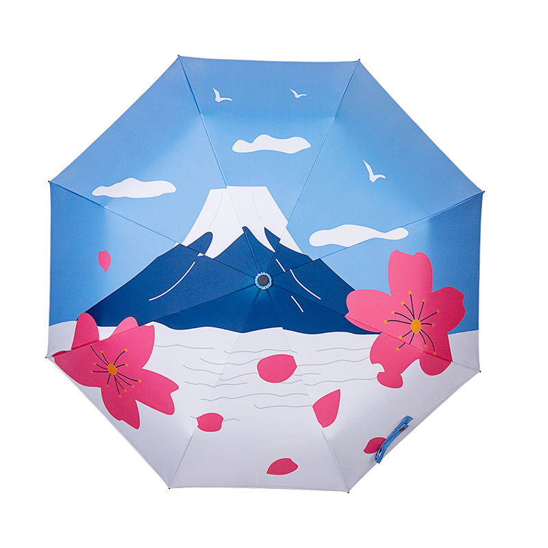 polar foto guarda-chuva automático chuva ensolarado guarda-chuva