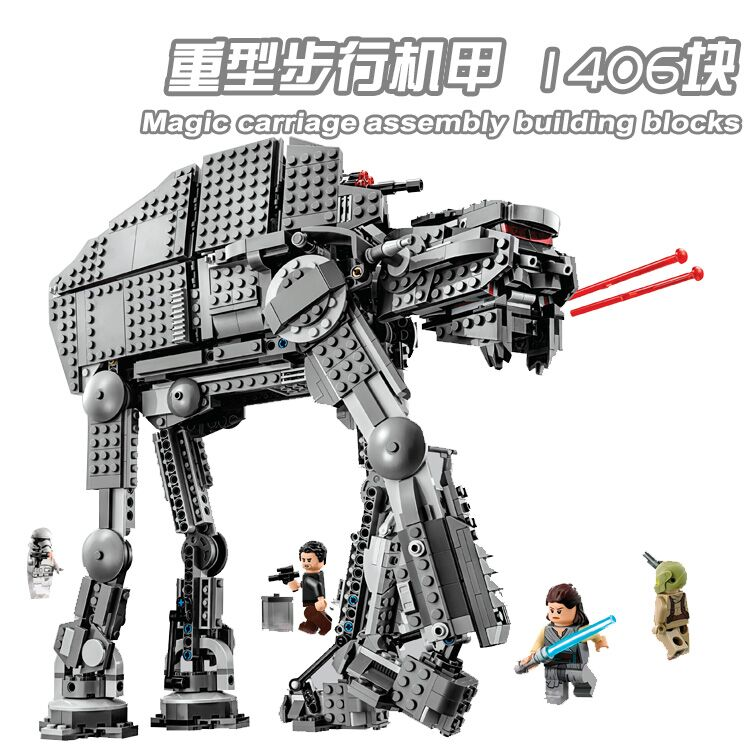Star Wars First Order Heavy Assault Walker Compatible Lepinly Starwars 75189 Building Blocks Toys For Children Gifts 10908 05130