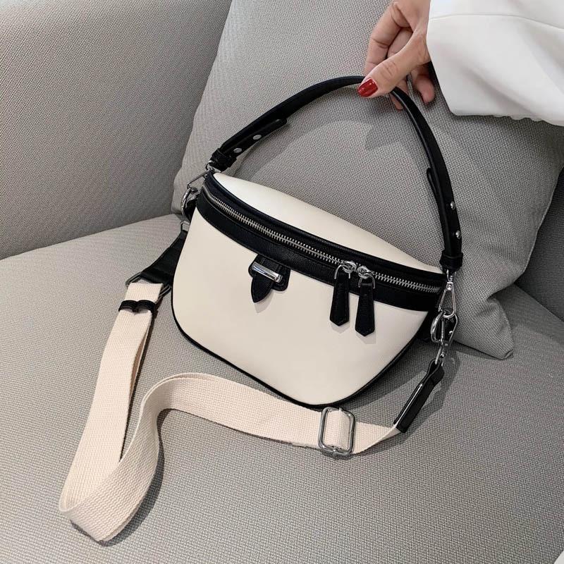 Fashion Women's Belt Bag High Capacity PU Leather Chain Sum Per Band Fanny Pack Bananka Portable Satchel Belly Band Waist Bag
