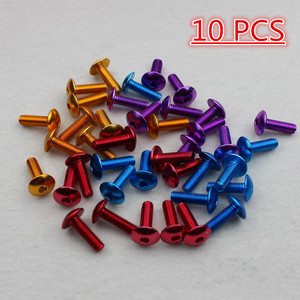 10 pcs universal brand scooter screws for yamaha suzuki honda cb500x msx 125 cb650f decal accessories 6MM motorcycle screw M6