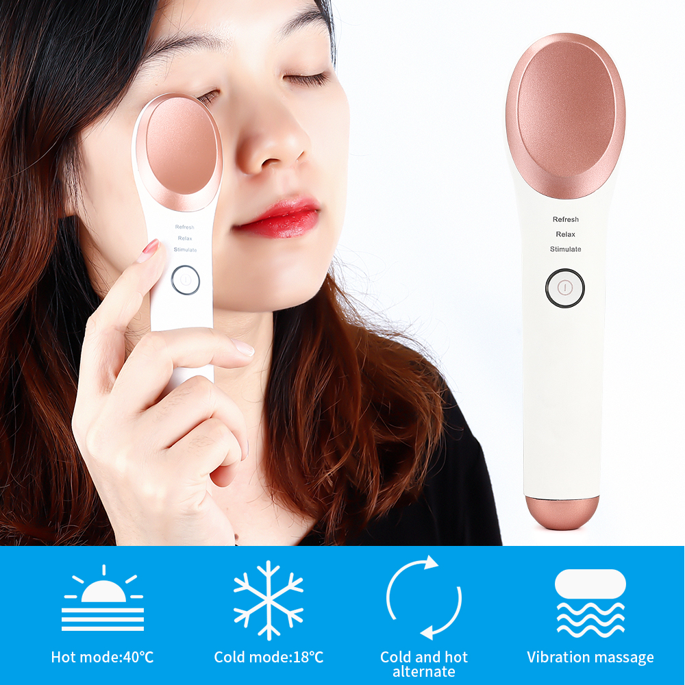 Heated Cold Eye Massager Wand Vibrating Massage Electric Wand For Dark Circles And Eye Puffiness Rechargeable Anti Wrinkle Pen