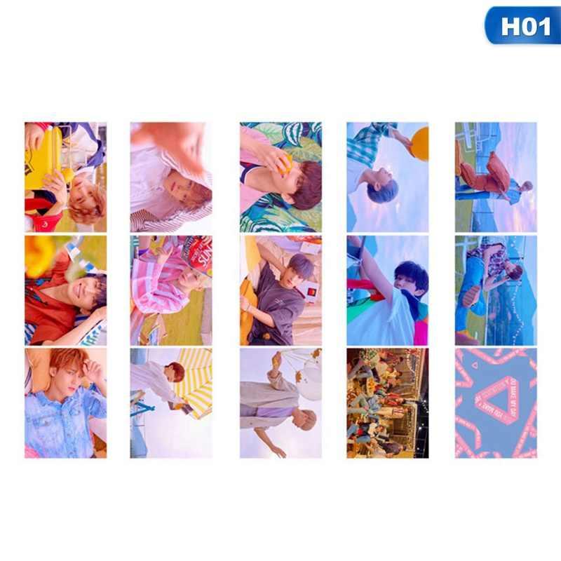 14 stks/set KPOP Zeventien Album dubbelzijdig Kaarthouder Lomo Card Kleine Photocard Set