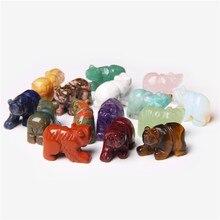 1 adet doğal ametist oyma el sanatları kristal ayı şifa kuvars taş heykelcik Reiki Mini hayvan sanat dekoratif ev dekorasyon