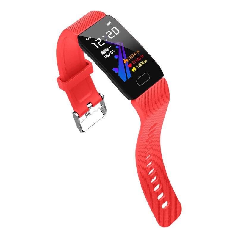 Hb5060cb361ed4f18a0648d9864c3864bC Fitness Bracelet Blood Pressure 1.14'' Screen Fitness Tracker Smart Watch Waterproof Smart Wristband Weather Display Women Men