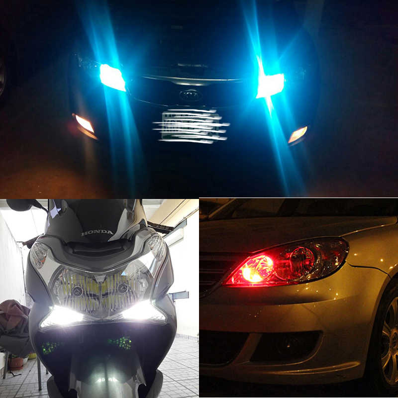2 Buah T10 W5W Lampu Mobil LED Lampu LED RGB dengan Remote Kontrol 194 168 501 Lampu Strobo LED Membaca lampu Putih Merah Amber 12V