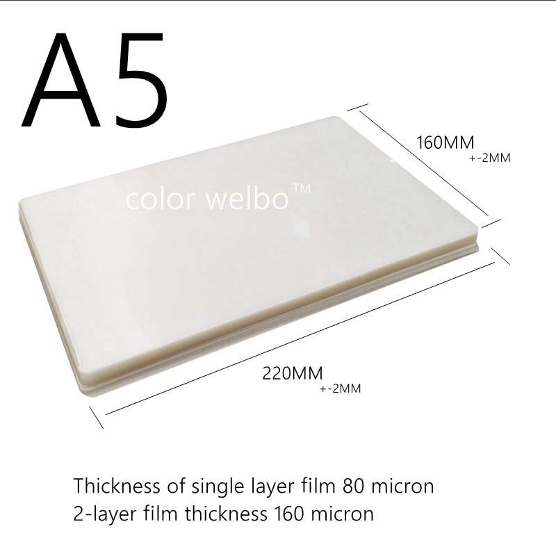 50 micron 20 <font><b>sheets</b></font>/pack A3A4 A6 4R 5R size hot Laminator film waterproof <font><b>PVC</b></font> PET laminating film image
