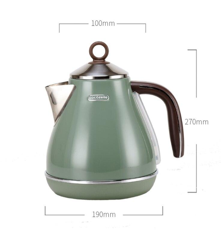 1800 Вт 1700 мл южнокорейский домашний ретро Электрический чайник 304 из нержавеющей стали электрический чайник для кипячения котел - 2