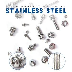 Image 2 - NINDEJIN 780PCS M2 M3 M4 M5 Phillips Pan Round Head Screws Set With Nut Flat Lock Washers Machine Screws Assortment Kit