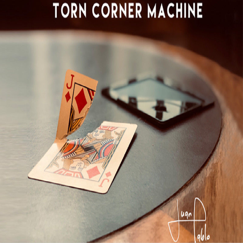 Torn Corner Machine (TCM) By Juan Pablo Torn Card Gimmick Card Magic Tricks Illusions Close Up Magic Props Restore Magician Deck