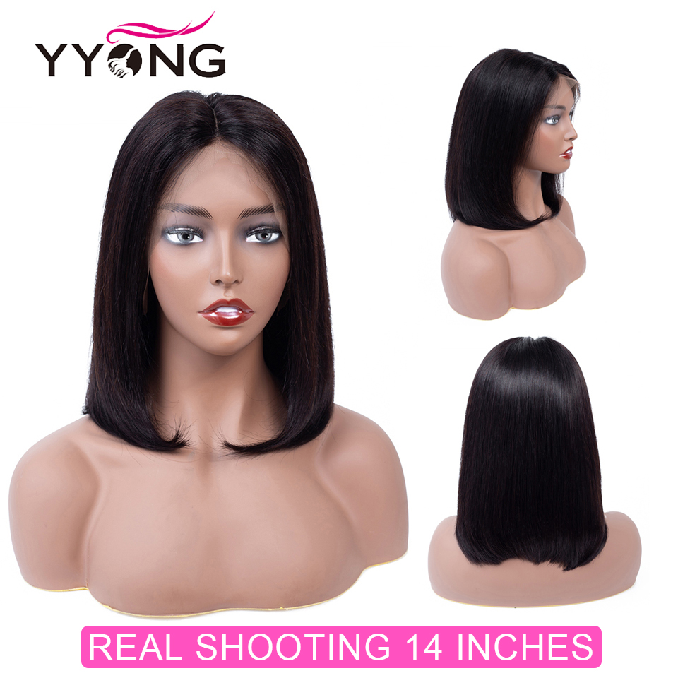 YYong T-Part Short Lace  Wig Natural Color / Blonde 613  Straight Bob Wig Lace Wig With Natural Hairline 3