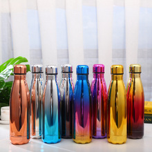 Water Bottle Vacuum Cup Stainless Steel Insulated Coffee Thermos Sport Travel Thermo Bottle 500ml Drink Bottle 500ml stainless steel double wall insulated thermos cup vacuum flasks water bottle thermo coffee mug quality travel