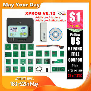 Ecu-Programmer-Tool XPROG Metal-Box Full-Adapters V5.86 Authorization V5.55 V6.12 Add