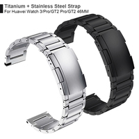 Titan + Stahl Spange Band Für Huawei Uhr 3 Band GT 2 Pro GT2 Armband Für HONOR MagicWatch2 46mm GS Pro Armband Armband