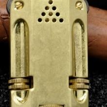 XGQ Z546 ZORRO латунный цинковый сплав ретро двойной огонь колесо зажигалки масляная зажигалка