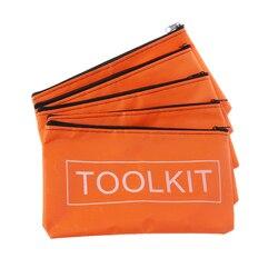 5 sztuk torby na zamek błyskawiczny wodoodporna tkanina oxford torba na narzędzia zestawy narzędzi sprzętowych Drop Ship Support w Szafy narzędziowe od Narzędzia na