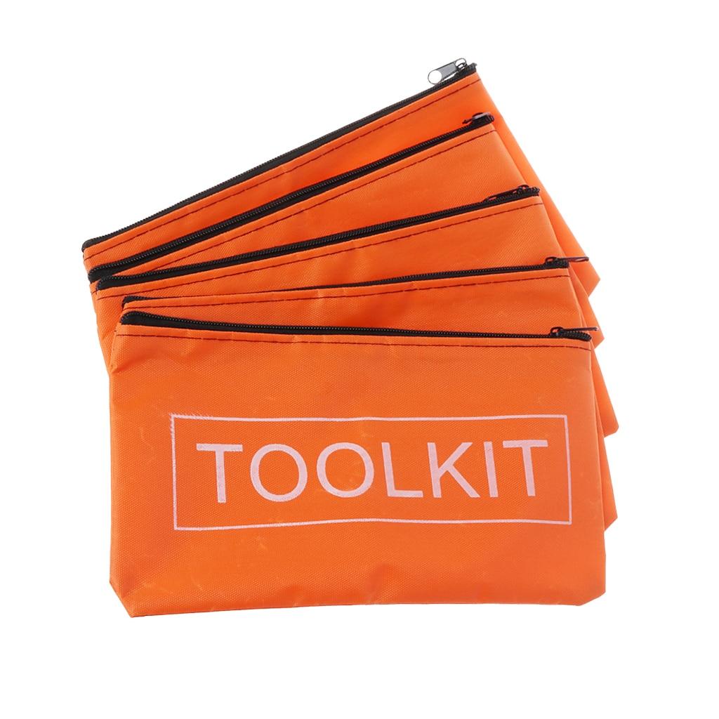 5pcs Zipper Storage Bags Waterproof Oxford Cloth Tool Bag Hardware Toolkits Drop Ship Support
