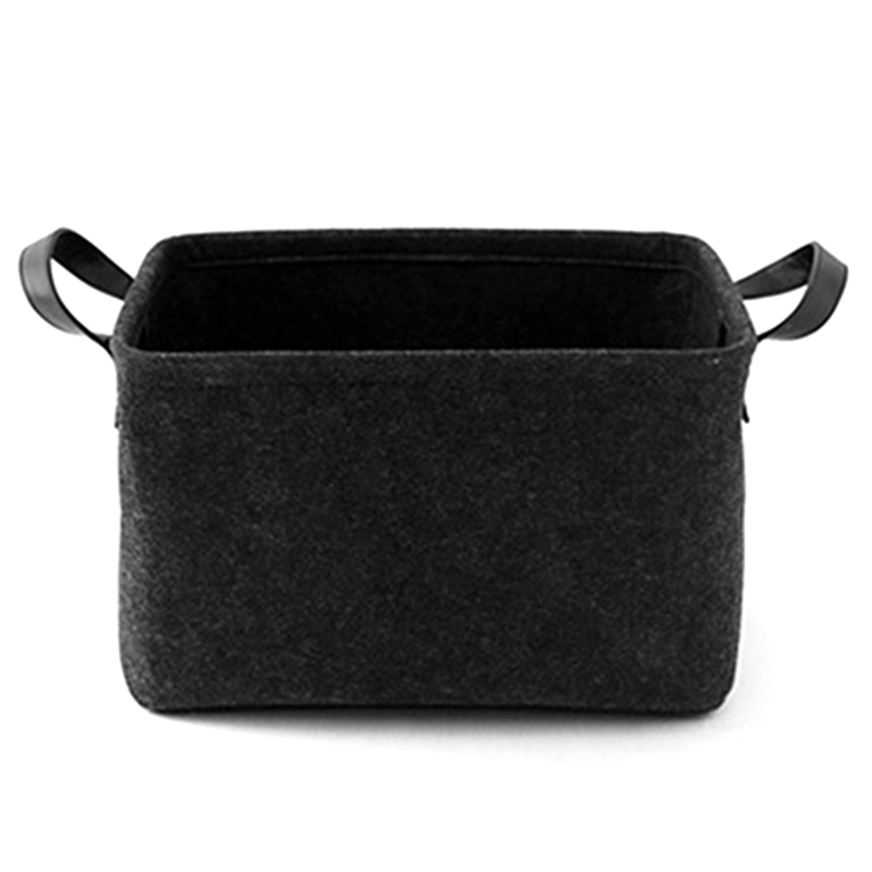 Foldable Laundry Basket Felt Toy Book Storage Basket Dirty Clothes Toys Holder Container Desktop Living Room Bathroom Organizer|Laundry Baskets| |  - title=