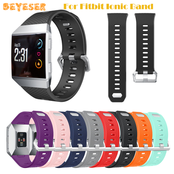 Leisure Silicone Wrist Strap Sport Bracelet Wrist Band Replacement Watch Band Compatible For Fitbit Ionic Band Smart Accessories band for fitbit ionic soft silicone replacement sport band strap for fitbit ionic smart fitness watch band sport high quality