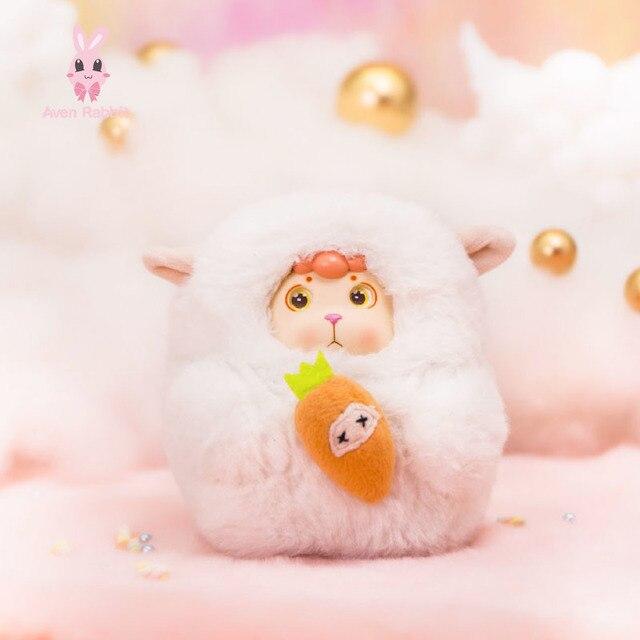 BONANA Small Wool Fleece Blind Box Toys Guess Bag Caja Ciega Blind Bag Toys for Girls Anime Figures Birthday Gift Doll 1