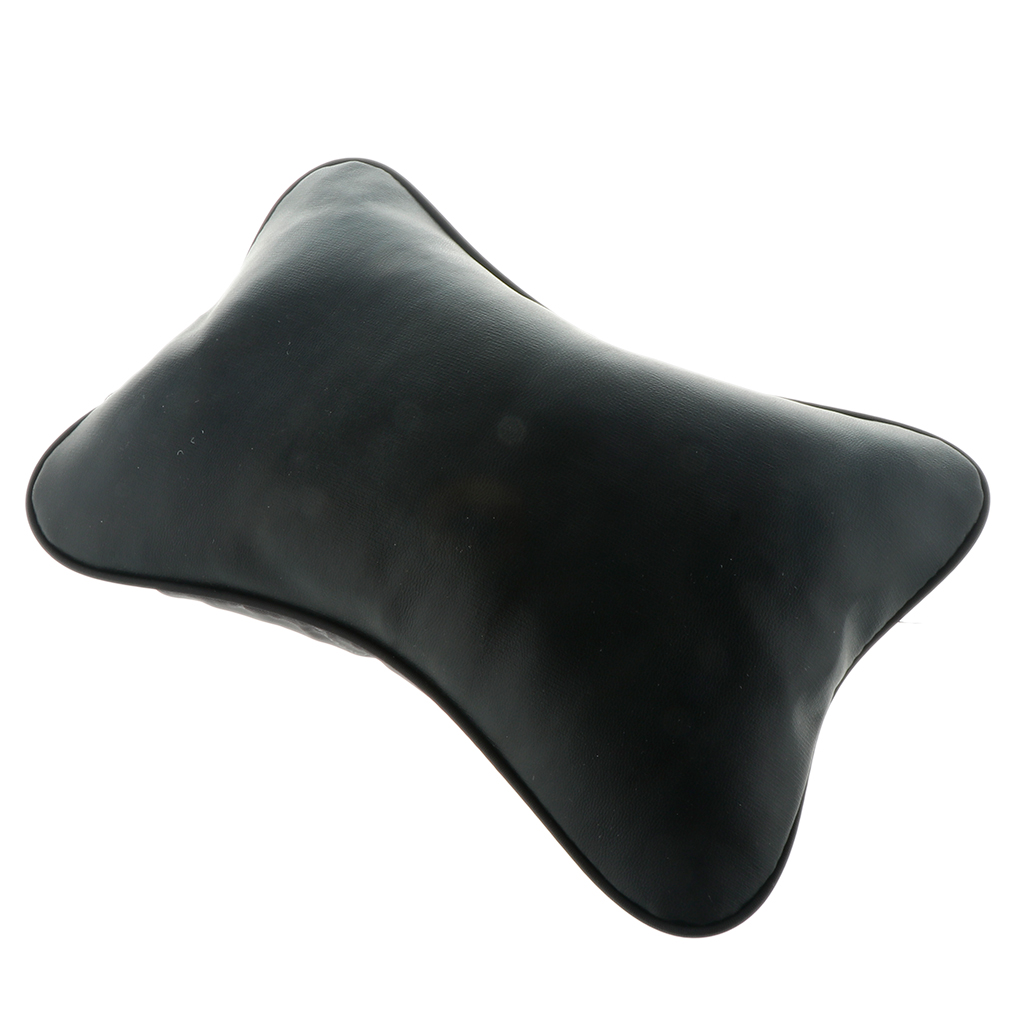 Brand New Durable Superior Quality Leather Pillow Breathable Mesh Cushion Headrest Neck Pillow High Health Care Car Headrest-in Seat Supports from Automobiles & Motorcycles
