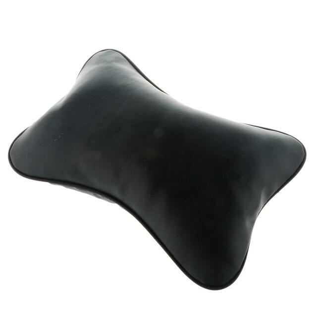 ブランド New 耐久品質の革枕通気性メッシュクッションヘッドレスト首枕高ヘルスケア車のヘッドレスト
