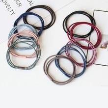 Микс 10шт ультра-стрейч ленты для волос Три -в-одном подключение Тоу Шэн для завязывания женские аксессуары
