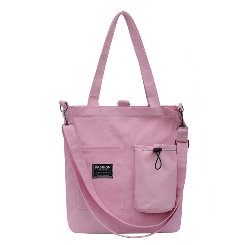 Fashion Style Women Hasp Canvas Bags Shoulder Bags 2019 New Female Casual Soft Zipper Canvas Handbags Messenger Bags