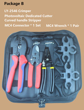 Photovoltaic Connector Terminal MC4 LY-2546 LS-2546 Crimping Tool Set with Wire Cutters Stripper Multi-function Crimper Tool Kit