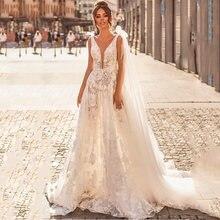 Eighree свадебное платье принцессы трапециевидной формы кружевное