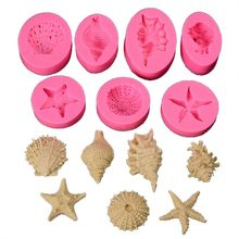 Ocean Series Silicone Mold Marine Fondant Baking 1 Set 7Pcs for kitchen accessories