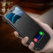 جراب هاتف خلوي مغناطيسي ، حافظة صغيرة من الجلد الأصلي الفاخر لهاتف iPhone 12 Pro MAX 12 Mini