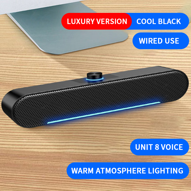 Wired Computer Speaker USB Bluetooth Speaker Bass Stereo Powerful Music Player Subwoofer Soundbar For PC Laptop