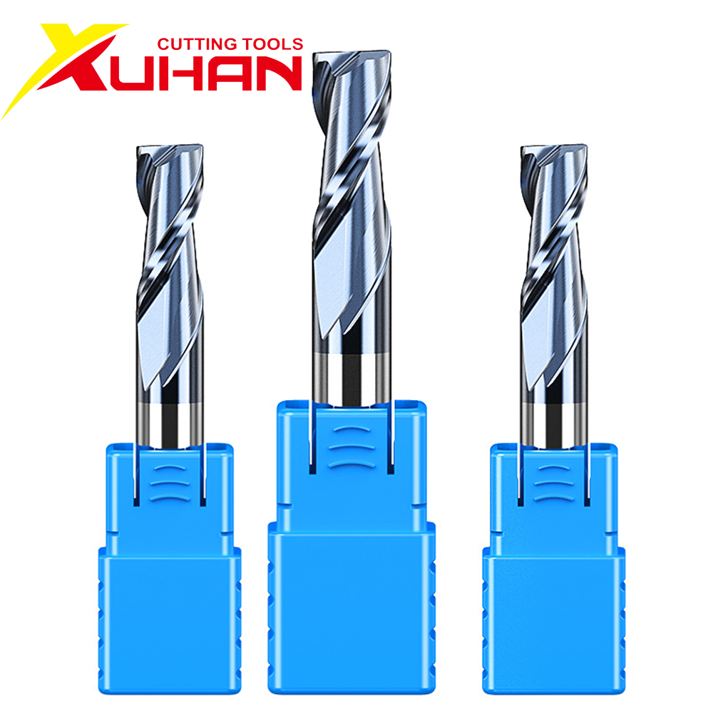 HRC50 2 Flute Carbide End Mill 1 2 3 4 5 6 8 10 12 Alloy Carbide Milling Tungsten Steel Milling Cutter EndMills Cutting Tools