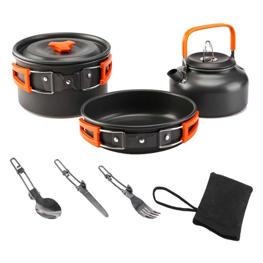 Ultralight Camping Cookware Utensils Outdoor Table Set Hiking Picnic F