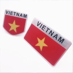 Auto Motorfiets Exterieur Accessoires Vietnam Nationale Vlag Aluminium Car Stickers