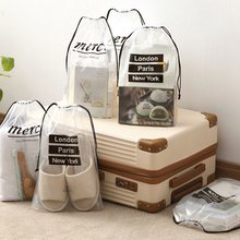 Waterproof Non-woven Shoe Clothes Storage Bag Drawstring Travel Wash Pouch Great.(China)