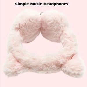 Image 4 - Crianças fones de ouvido bonito dos desenhos animados fone de ouvido para o telefone mp3 tablet pelúcia música quente fone de ouvido para o miúdo adulto 3.5mm com fio