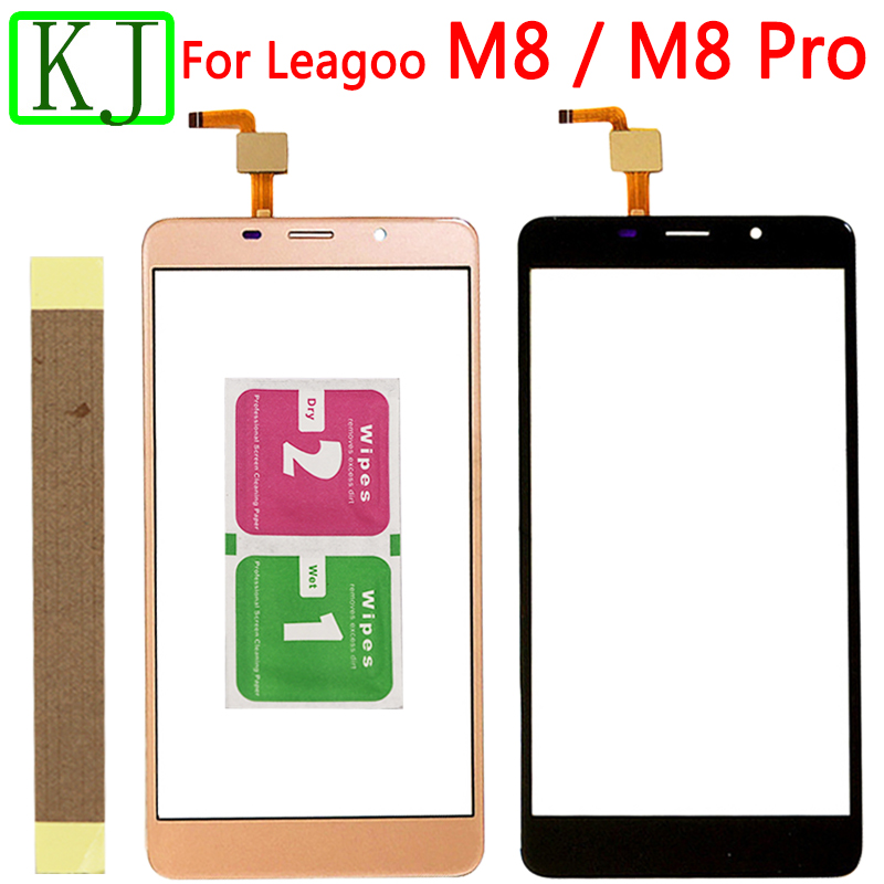 Mobile Phone Touch Screen For Leagoo M8 Pro Digitizer Front Glass TouchScreen Sensor Lens Black Gold
