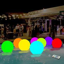 Boule lumineuse gonflable de boule lumineuse de 40cm boule de plage décorative de boule de Led pour l'équipement de sport extérieur de piscine de piscine