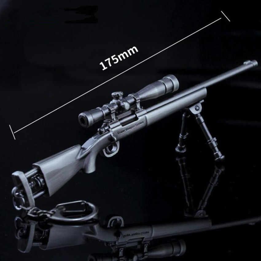 Jogo pubg awm m24 98k todos os rifle, modelo playerunconhecido, battlegrosons, cosplay, adereços, liga, armadura, chaveiro, corrente