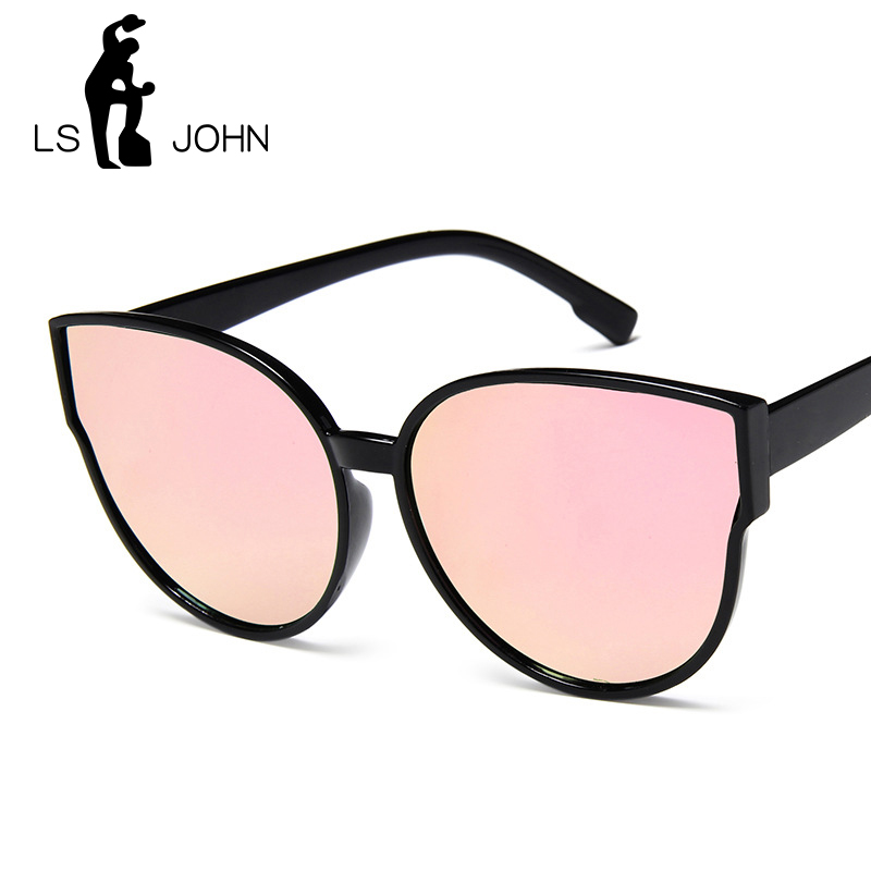 LS JOHN Vintage Sunglasses Women Cat Eye Sunglasses 2019 Sexy Summer Red Sun Glasses For Female Brand Designer Eyewear UV400